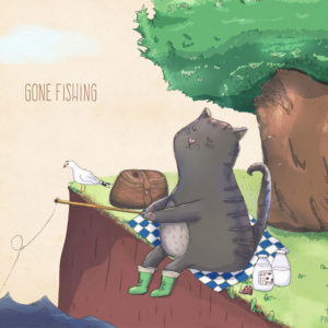 Diego The Cat Gone Fishing