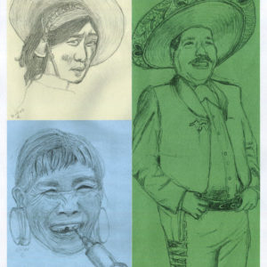 South America Natives Sketches - Portraits