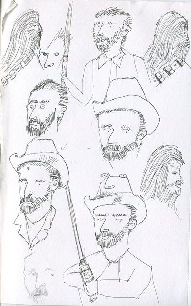 Van Gogh Star Wars Sketches