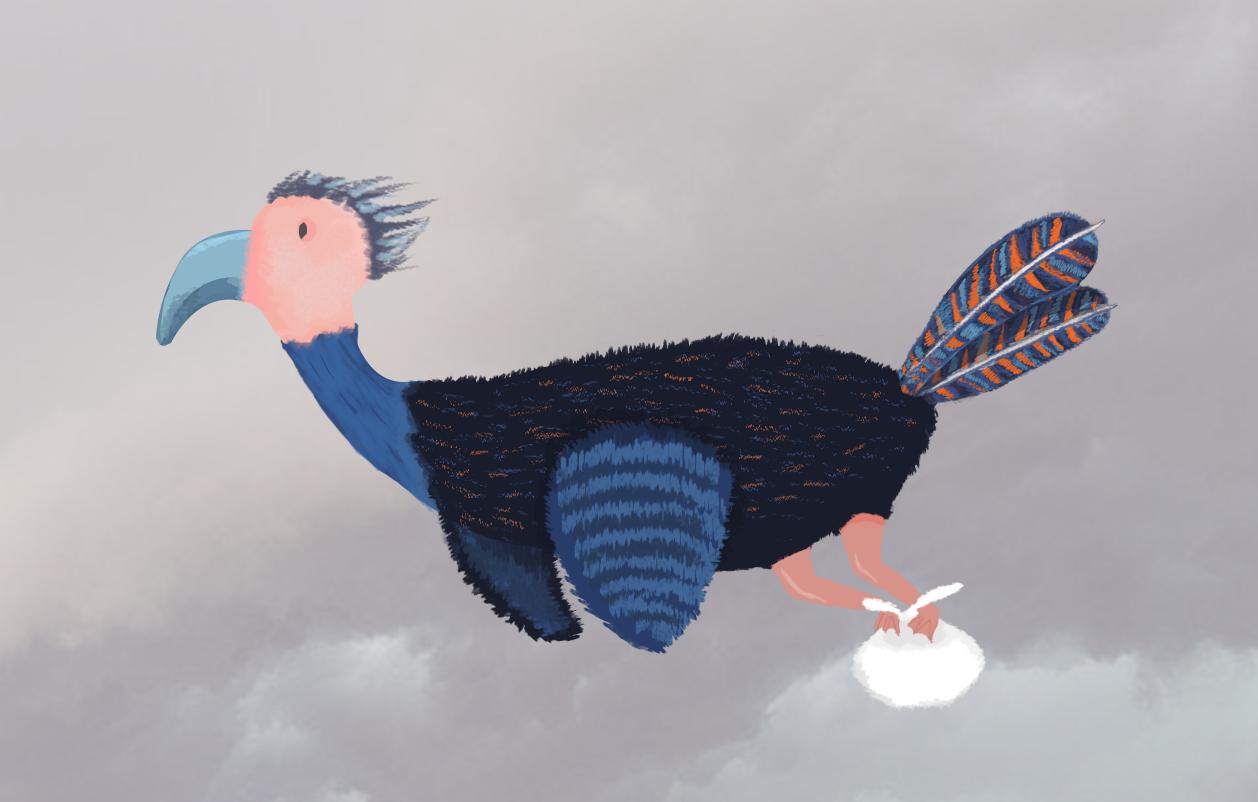 Bird Flying Final Illustration