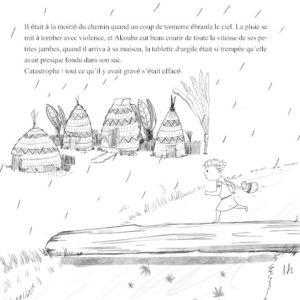 Akouba - Village under the Rain Sketch