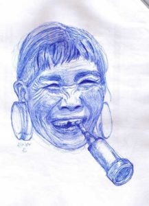 Old Woman with Pipe - Portraits